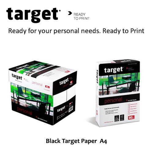 Black Target Paper  A4