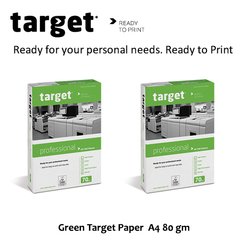 Green Target Paper  A4 80 gm