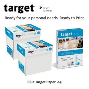 Blue Target Paper A4
